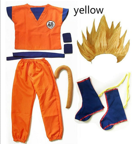 Goku Kids Costume - 2020 Kids/Adult Halloween Anim Dragon Ball Son Goku Party Costume Set