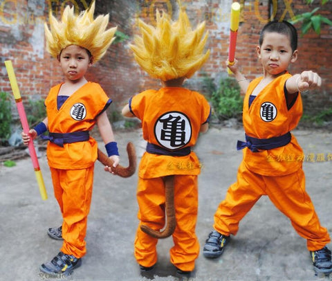 Godu Kids Costume - Dragon Ball Heros Full Set Suit Without Wigs Costume
