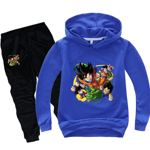 Goku Kids Costume - Children Girls Boys Goku Hoodies Sweatshirt Pullover Sportwear Tops Pants Costume