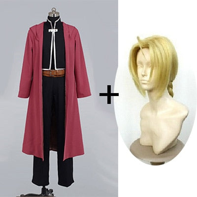 Edword Elric Wigs - 2020 Fullmetal Edword Costume And Wig Pocket Watch