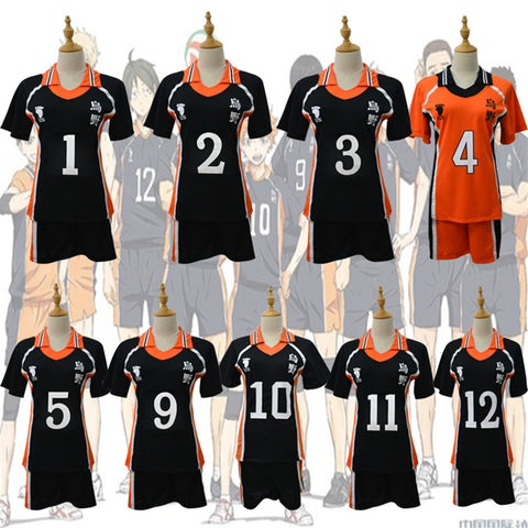Hinata Cosplay - High School 9 Styles Vollyball Sportwear Shirt Jerseys
