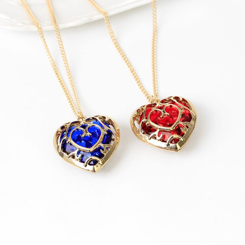 Zelda Props - Necklace Hollow Out Love Crystal Props Alloy Pendant Accessories