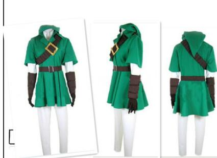 Zelda Cosplay - The Legend Of Zelda Comic Link Full Set Green Outfit Costume