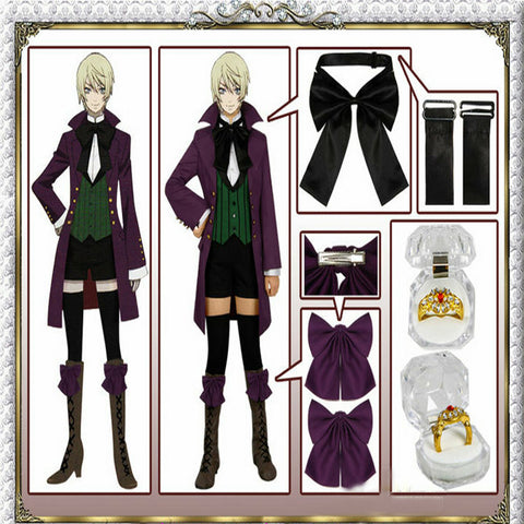 Alois Trancy Cosplay - Season 2 Earl Alois Uniform Trancy Costume With Ring