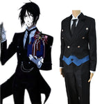 2018 Anime Black Butler Sebastian Michaelis Cosplay Black Uniform Outfit Halloween Costumes for Women Mens Carnaval Disfraces