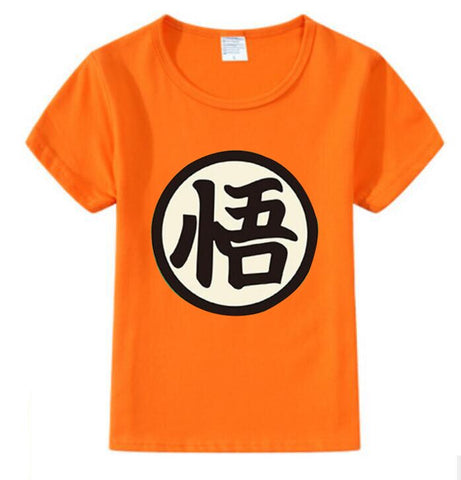Goku Kids Costume - Cotton T-Shirt For Kids Boy Girls Tee Costume Cosplay