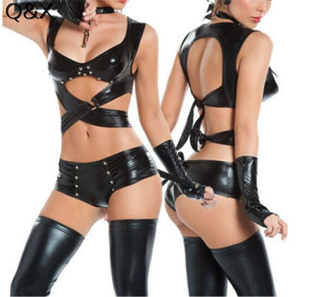 Catwomen Cosplay - Women Sexy Lingerie Imitation Leather Costume
