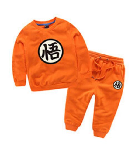 Goku Kids Costume - Dragon Ball Z Goku Cotton Costume, Kids Children Baby Boys Firls Trouser Coat Long Sleev Tshirt Suit