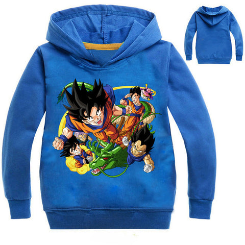 Goku Kids Costume - Dragon Ball Z Jacket Goku Vegeta Hoodies Shirts For Girls Tops Baby Hooded Outwear Costume