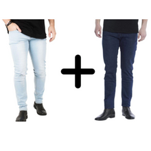 Load image into Gallery viewer, 2 x The Perfect Jeans: Dark Blue + Light Blue