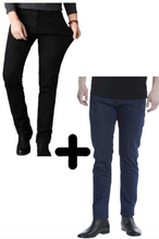 Load image into Gallery viewer, 2 x The Perfect Jeans: Dark Blue + Black