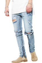 Load image into Gallery viewer, The Perfect Distressed Jeans - Blue