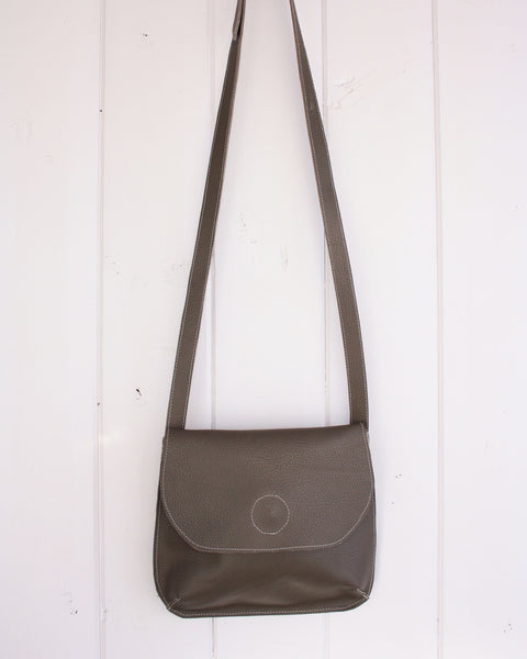 Saddle Bag Cross Body in Taupe