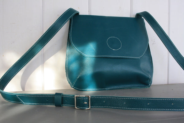 Saddle Bag Cross Body in Teal Blue