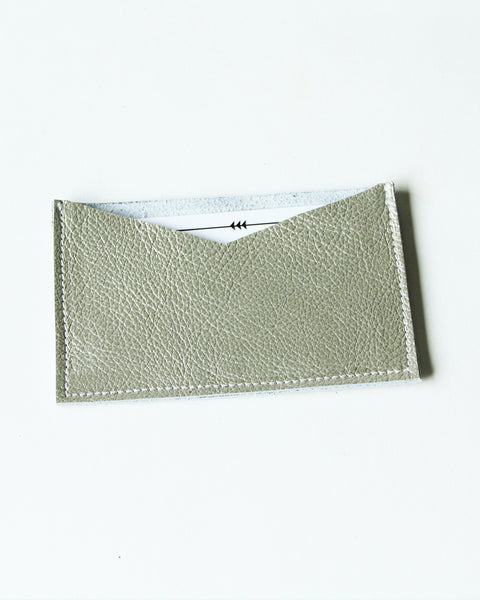 card wallet - metallic gold leather