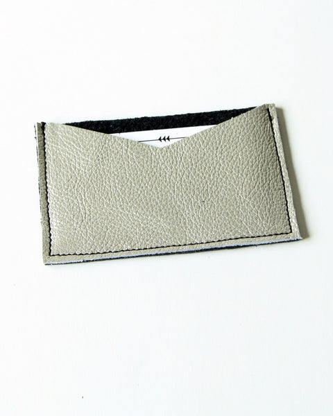 card wallet - gold + black leather