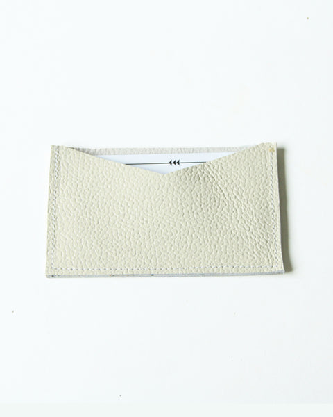 card wallet - cream leather