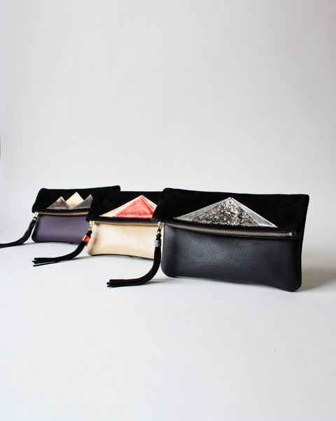 Barbara + Cecile Handbags handmade leather clutches
