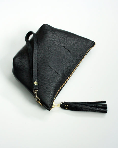 Wristlet Leather Clutch -Sorbet Geo