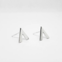 Load image into Gallery viewer, Anne Michelle Sterling Silver Chevron Stud Earrings