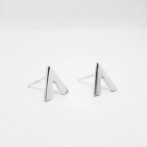 Anne Michelle Sterling Silver Chevron Stud Earrings