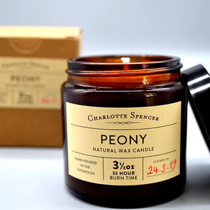 Charlotte Spencer Peony 3.5 oz Natural Wax Candle