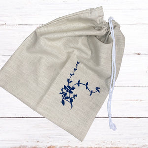 Clare Walsh Design - Natural Linen Drawstring Bag