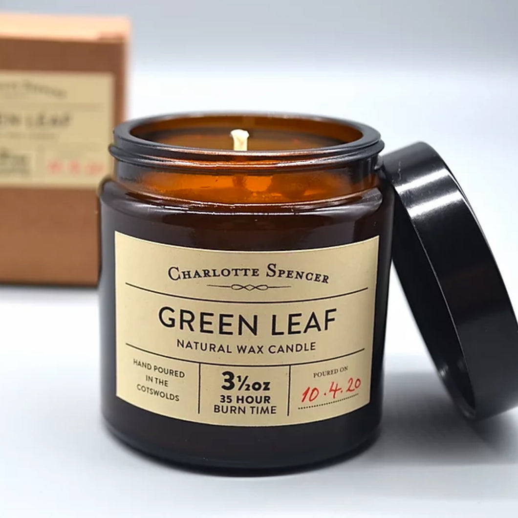 Charlotte Spencer Green Leaf 3.5 oz Natural Wax Candle