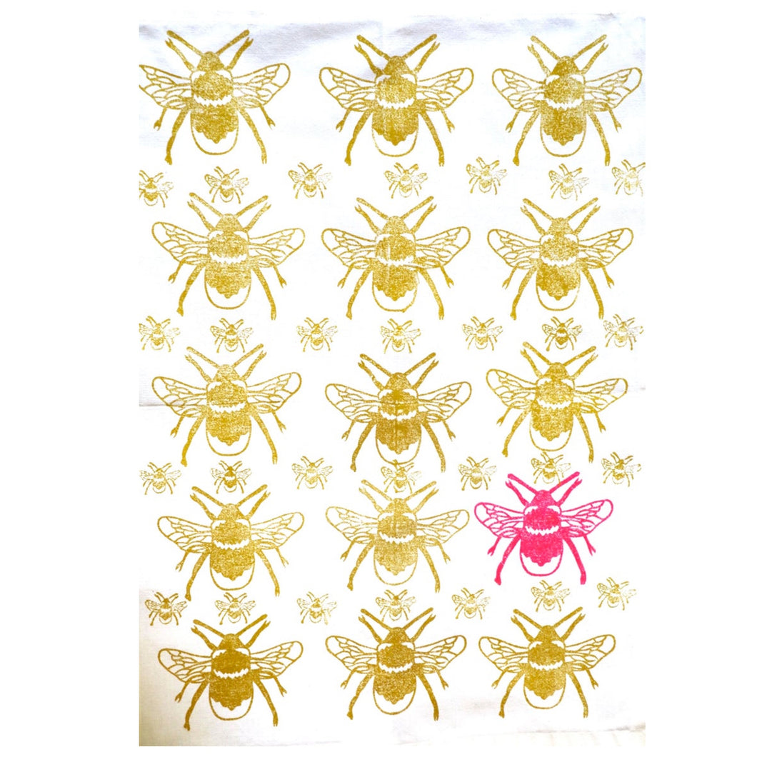 Holly-B Neon Bee Tea Towel