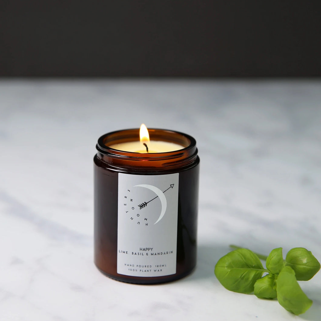 Hunters Moon Happy (Lime, Basil & Mandarin) Candle - 120ml