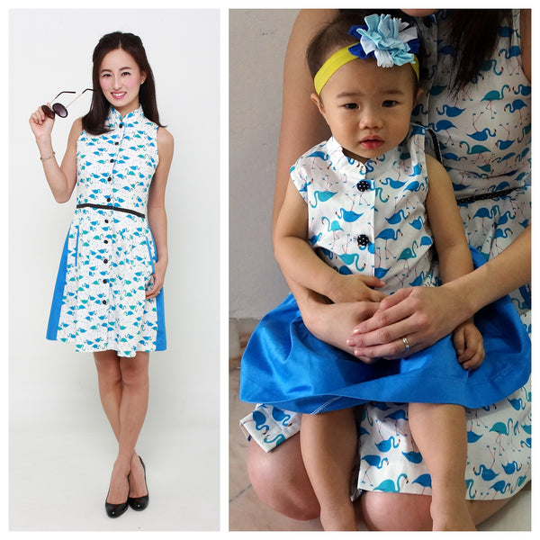 The Blue Flamingo Mama + Girl Set (Pre-order only)