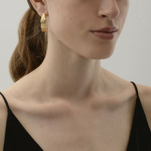 Load image into Gallery viewer, AMELIA HOOP EARRING SILVER PLATING