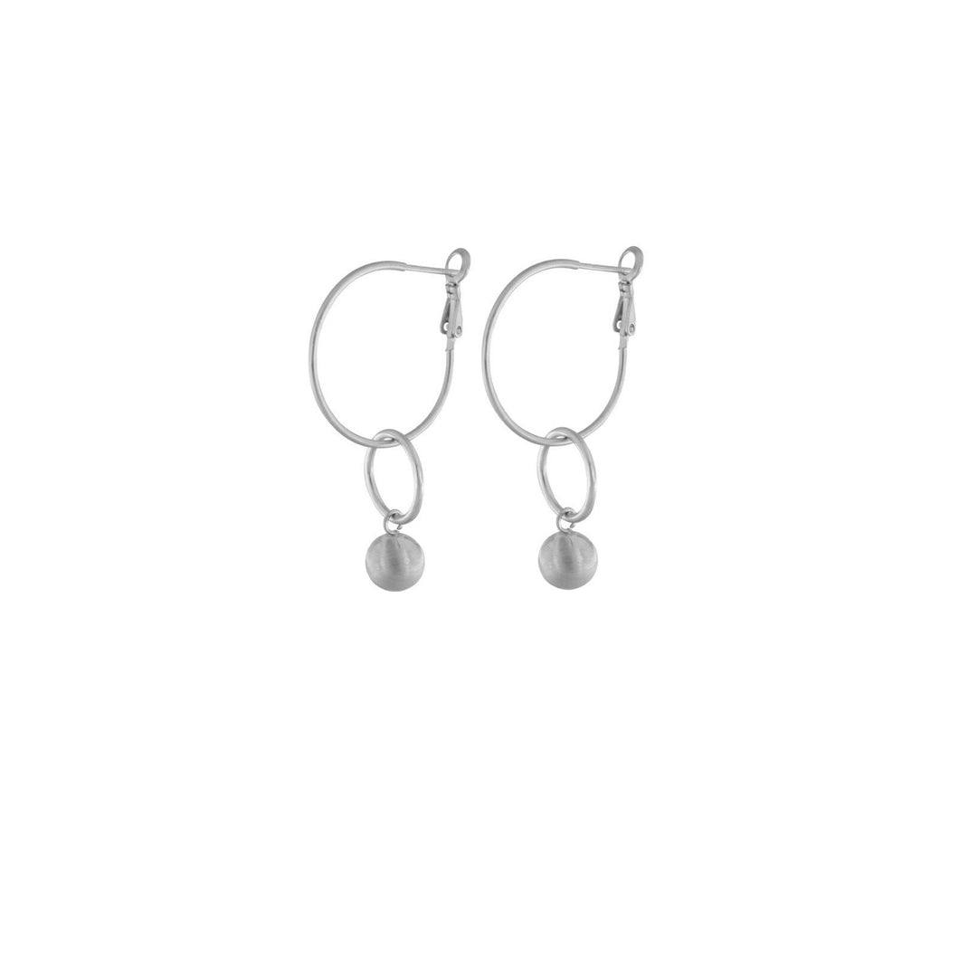 TABITHA OPEN CIRCLE EARRING RHODIUM PLATING