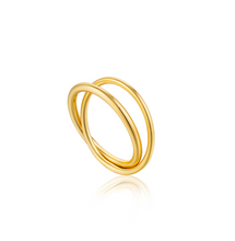 Load image into Gallery viewer, GOLD MODERN DOUBLE WRAP RING - Amabis