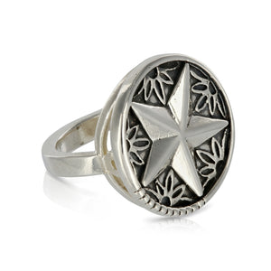 SILVER STAR RING - Amabis