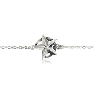 SILVER STAR AND MOON BRACELET - Amabis