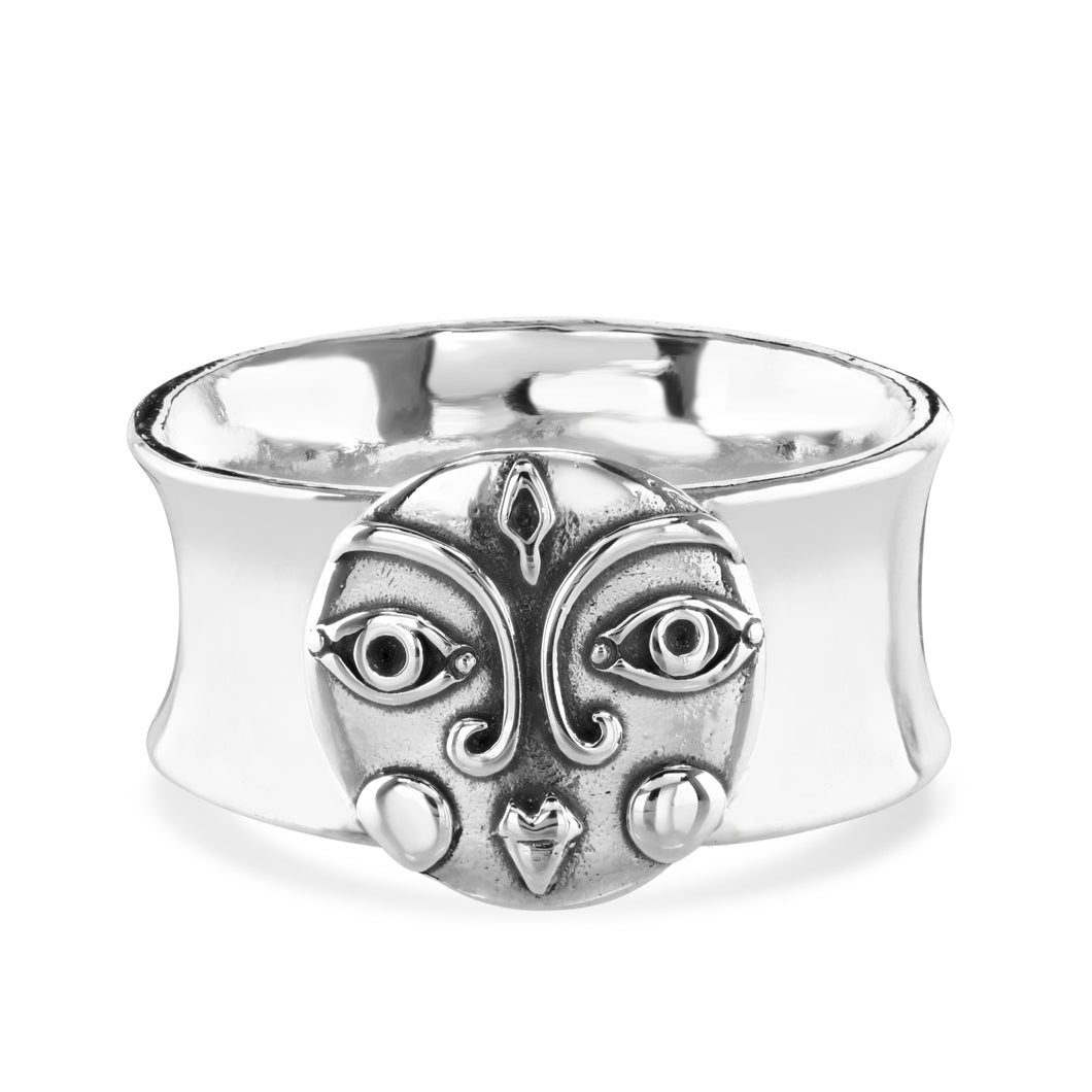 SILVER MOON RING - Amabis
