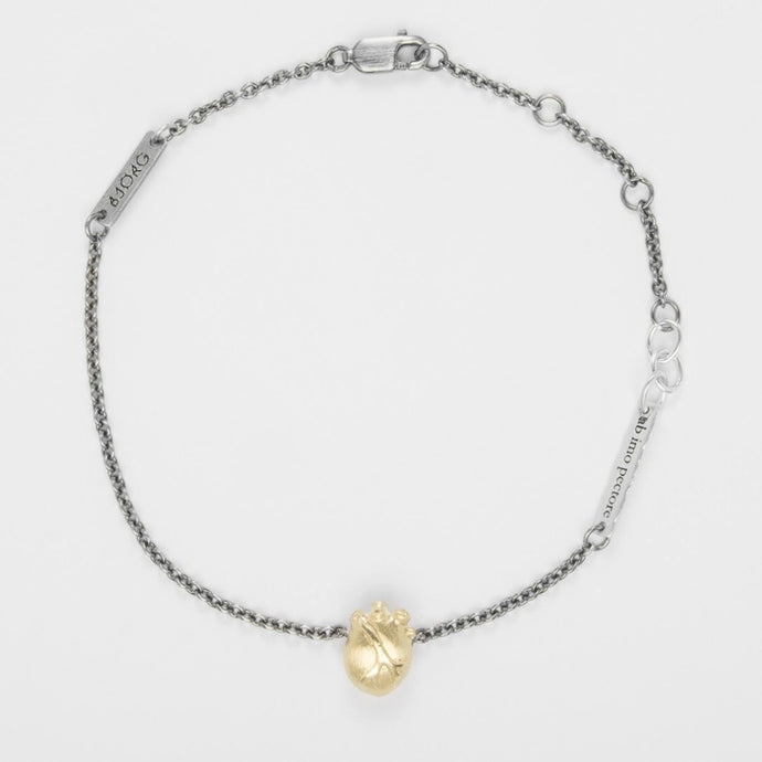 ANATOMIC HEART BRACELET GOLD - Amabis