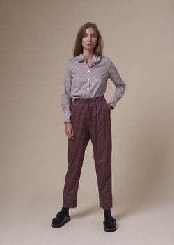 SILLE PANTS STAR ANISE RED