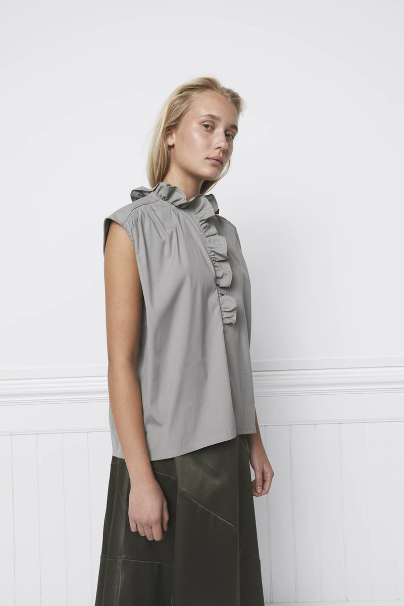 ANNI SHIRT TOP - KHAKI
