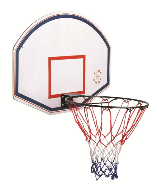 Sure Shot Junior Backboard and Ring Set in White