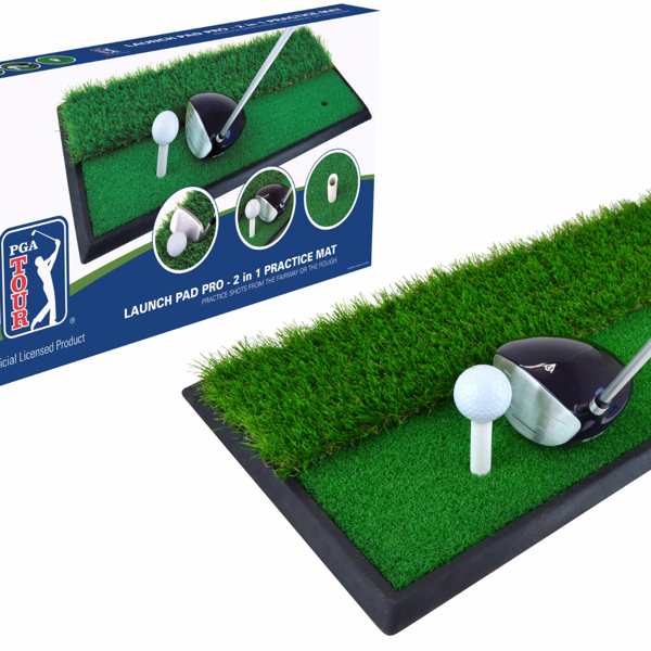 PGA Tour Launch Pad Pro 2 in 1 Golf Mat