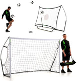 QuickPlay Kickster Combo 8' x 5' Goal and Rebound Net