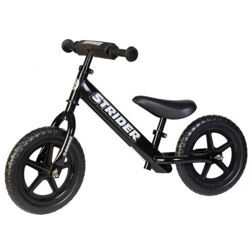 "Strider 12"" Sport Balance Bike - Black - Free Delivery"