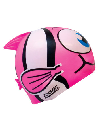 Zoggs Junior Silicone Character Swim Cap - Free Delivery