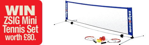 Win a Zsig Mini Tennis Set worth £80.