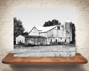 Barn Fall Photograph Black White