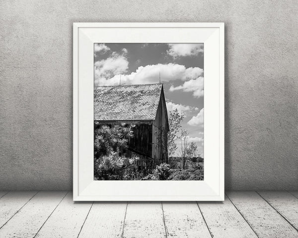 Cloud Barn Photograph Black White