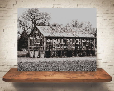 Mail Pouch Barn Photograph Sepia