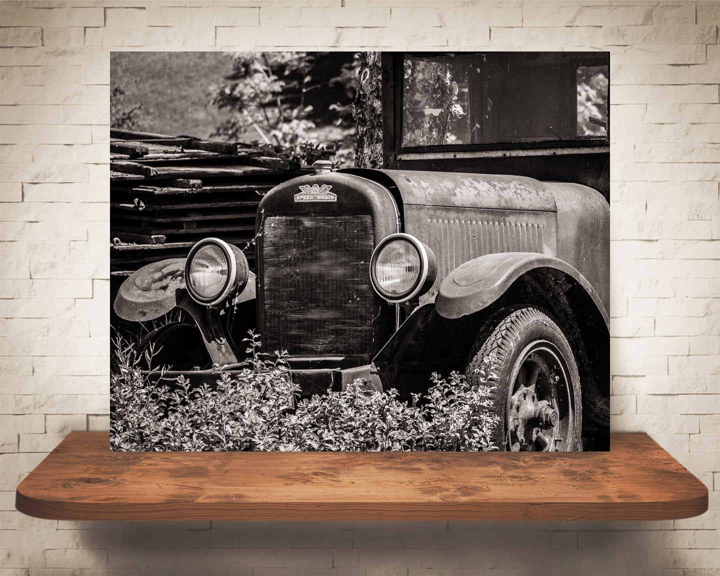 Antique Car Photograph Sepia